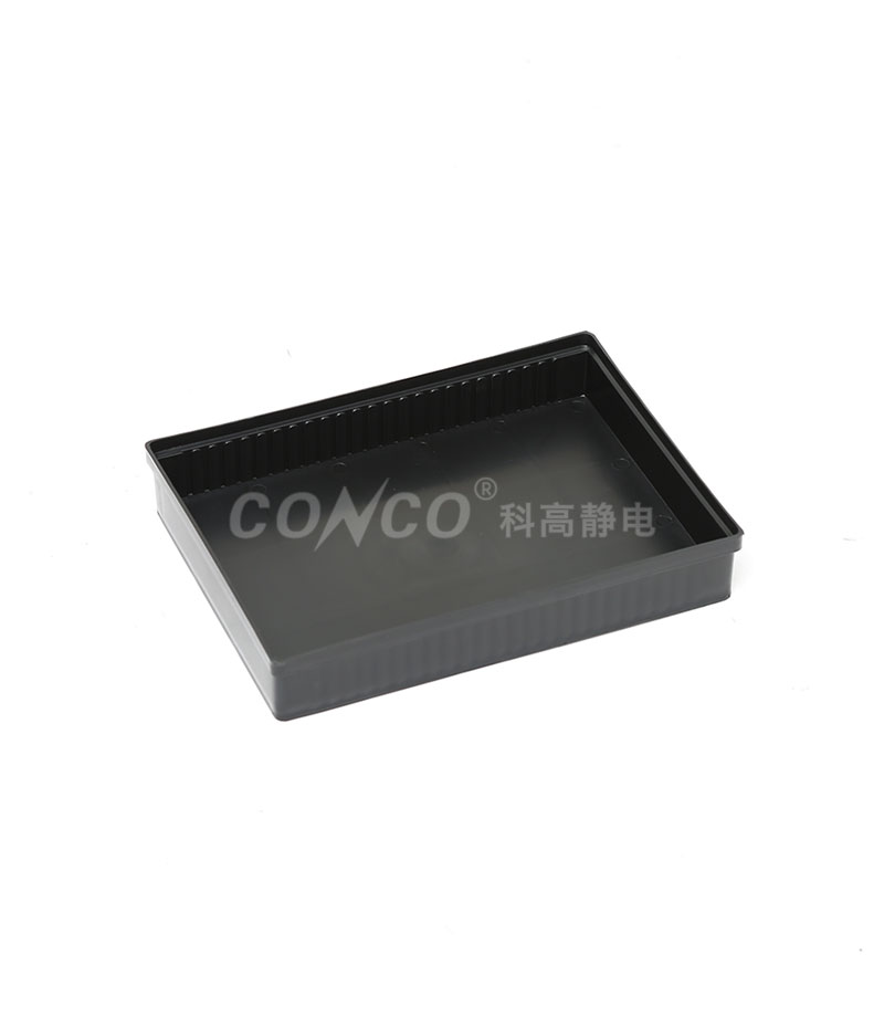 COP-3202 Black Rectangular ESD Tray