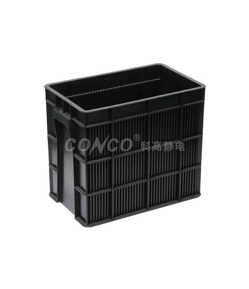 ESD Conductive Circulation Black Plastic Box
