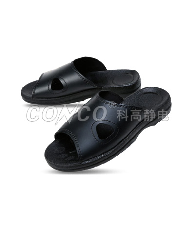 ESD Black Soft Slippers