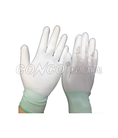 ESD PU Finger Tip Coated Gloves