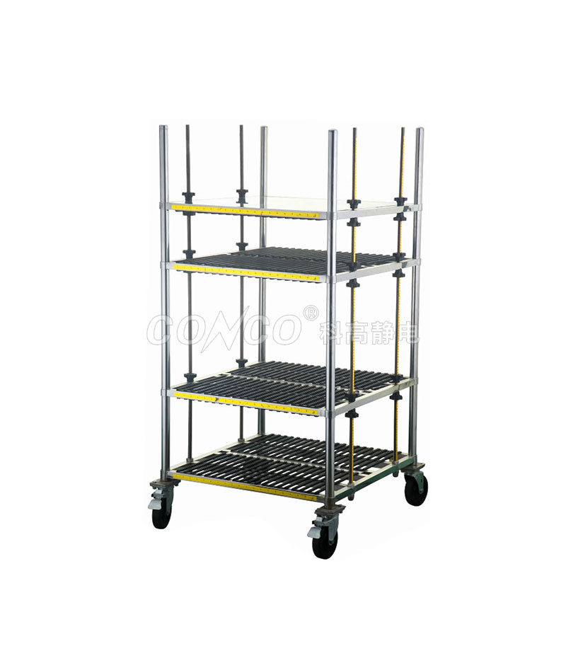 COC-601 ESD pcb cart vertical storage trolley