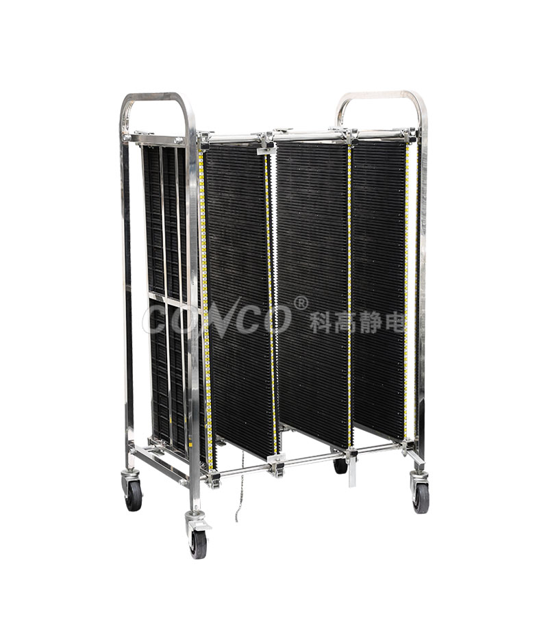 COC-603 ESD antistatic pcb storage trolley