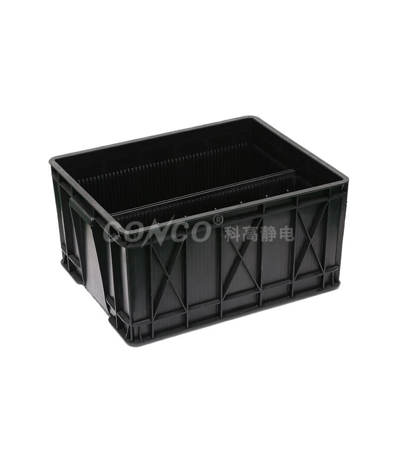 Black Plastic Big Storage ESD Circulation Box
