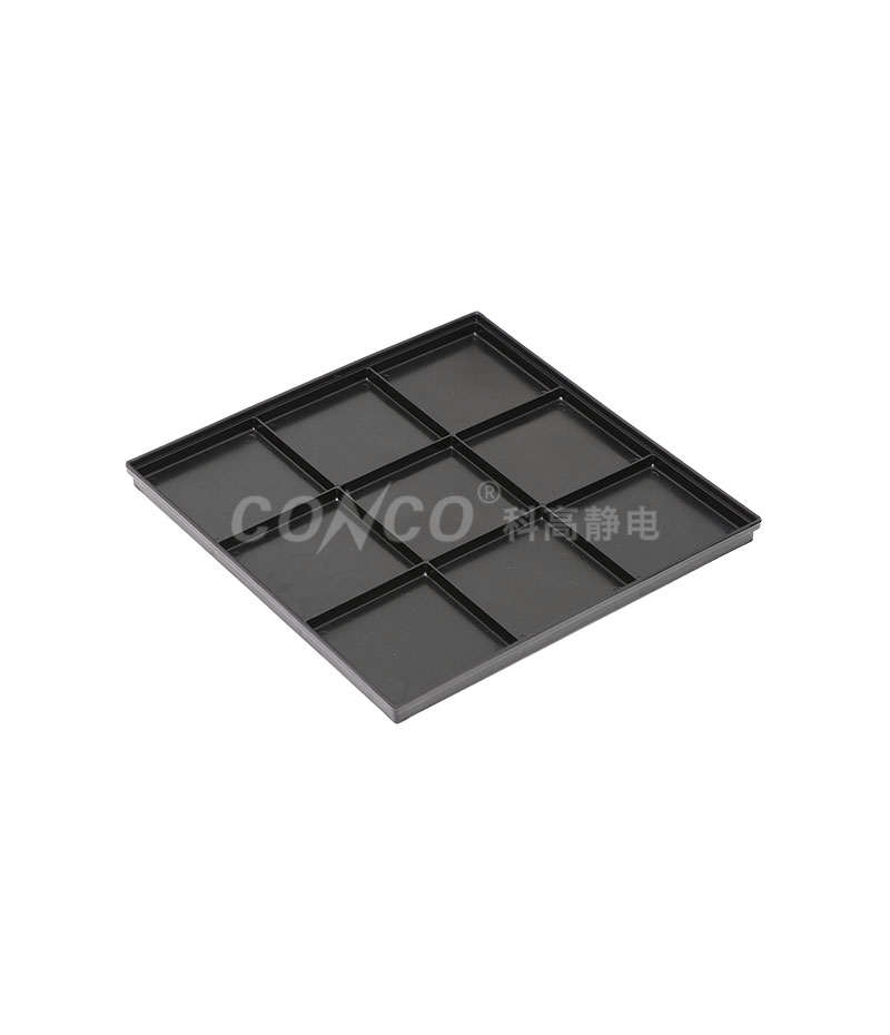 COP-3208 Black Big Plastic Conductive ESD Tray